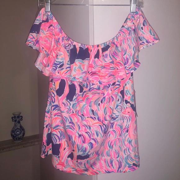 b05d24fcd9adaa NWT Lilly Pulitzer La Fortuna Top- Pelican Pink. M_5cb3cdfa2eb33f567cda50c3